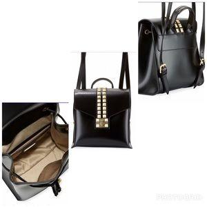 Valentino Olivier Soare Leather Studded backpack
